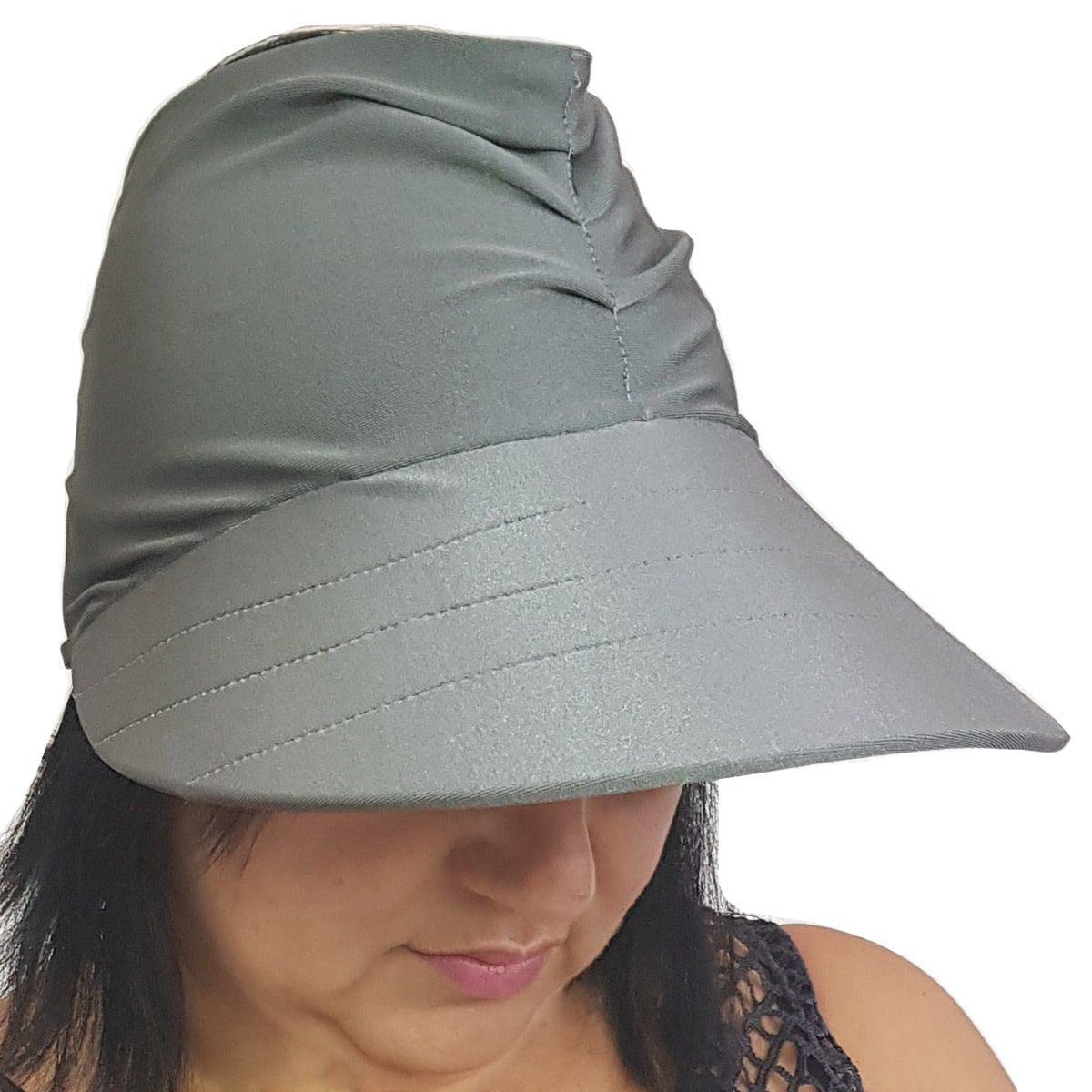 Viseira Turbante com Proteção UV 50+ Cinza