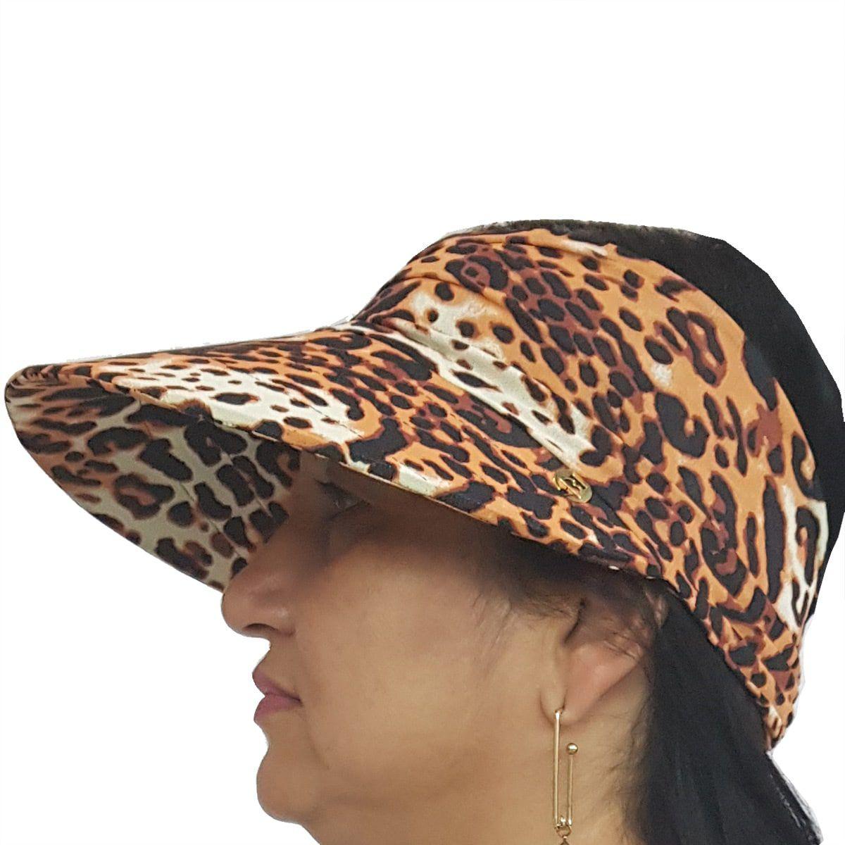 Viseira Turbante com Proteção UV 50+ Onça