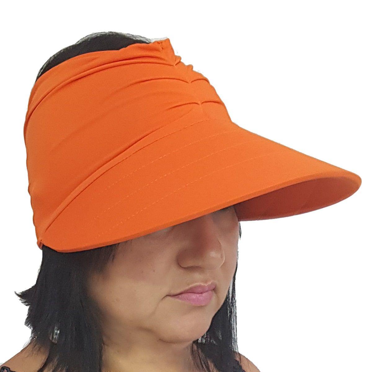 Viseira Turbante com Proteção UV 50+ Laranja