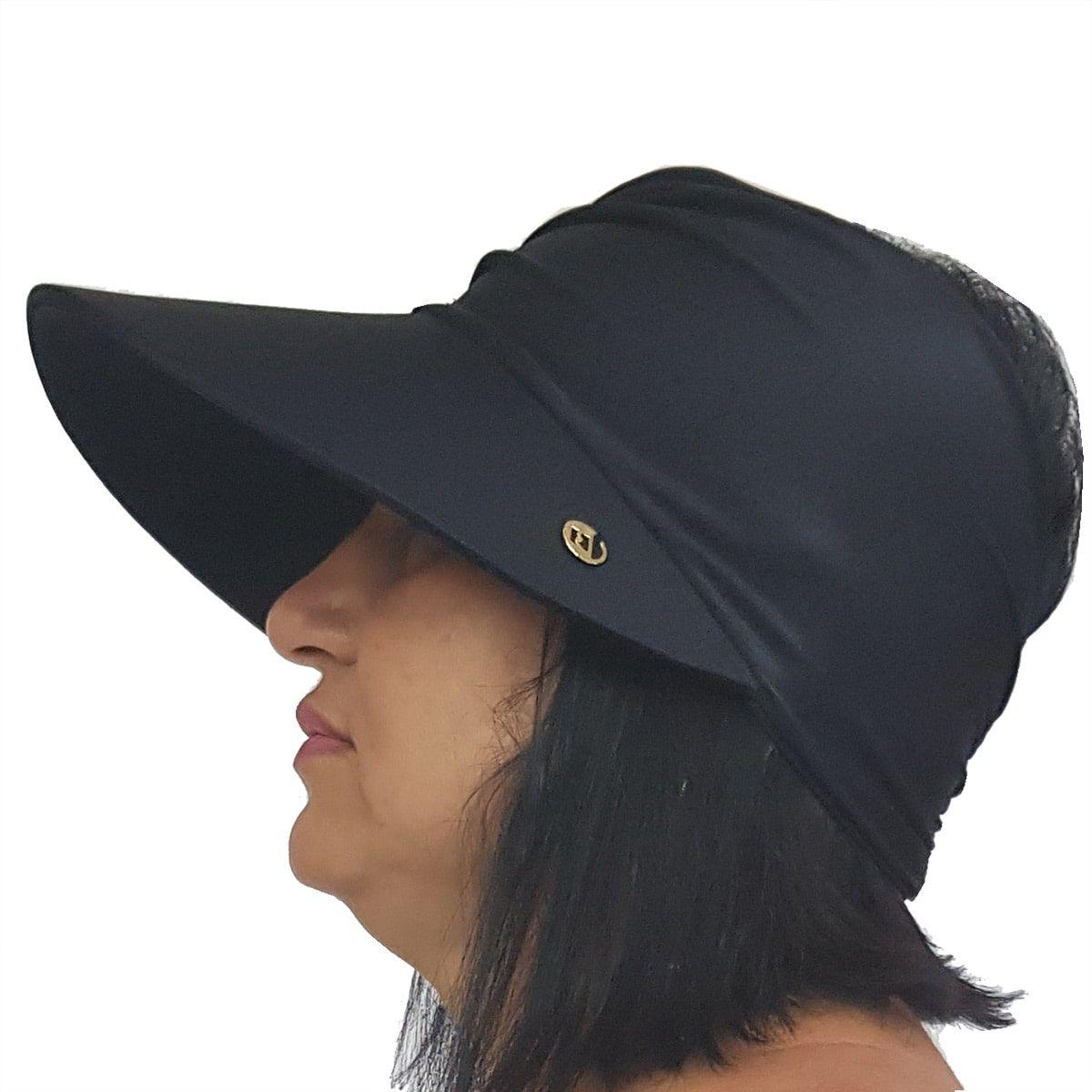 Viseira Turbante com Proteção UV 50+ Preta