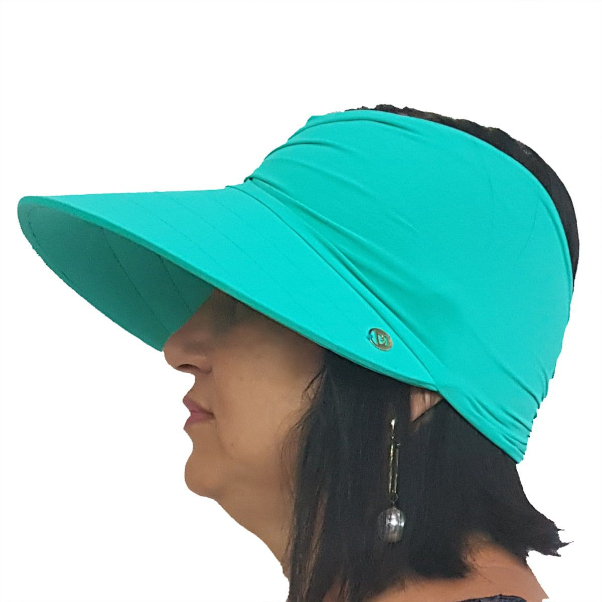 Viseira Turbante com Proteção UV 50+ Verde Nanai