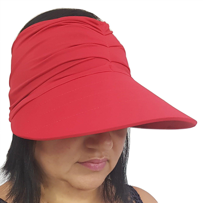 Viseira Turbante com Proteção UV 50+ Vermelha