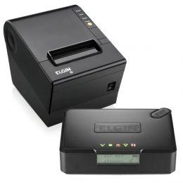 Kit SAT Elgin Smart + Impressora de Cupom Elgin i9 Full