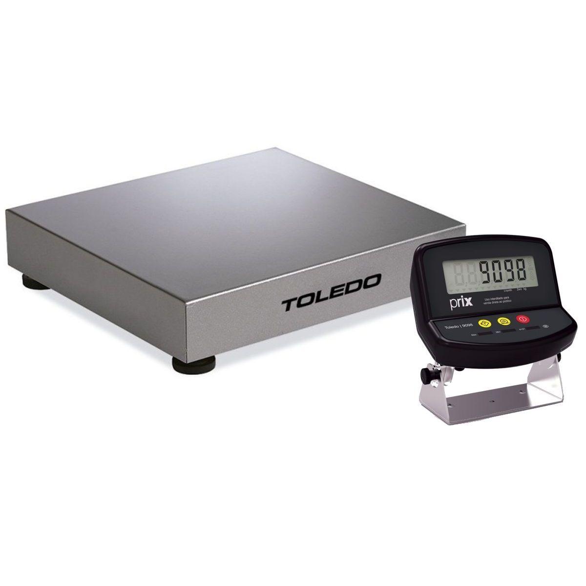 Balança de Plataforma Toledo 2098 (120Kgx20g) (50x50cm)