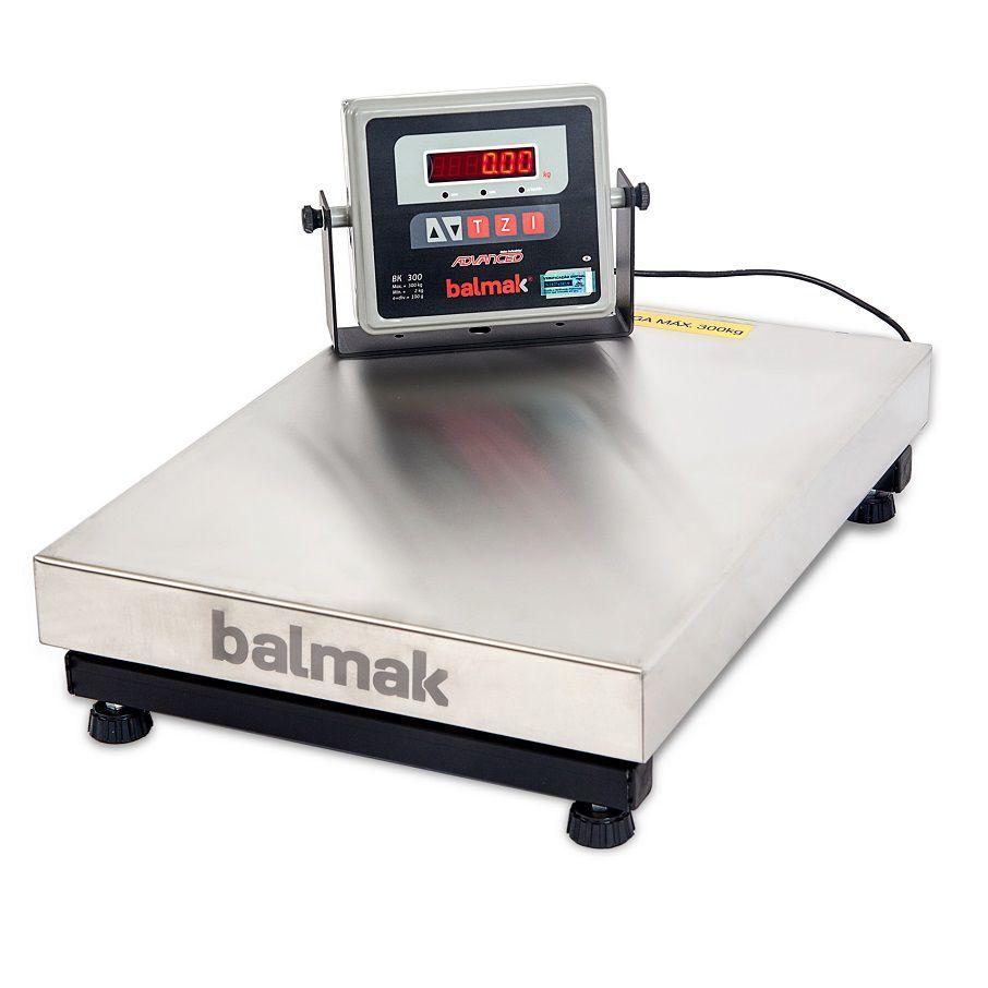 Balança de Plataforma Inox Balmak BK-300I1 (300Kgx100g) (40cmx55cm)