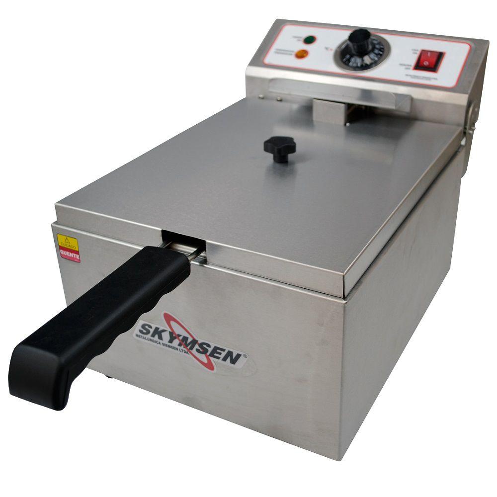 Fritadeira Elétrica Inox Skymsen FE-10 - 1 Cuba 5 Litros - 220v