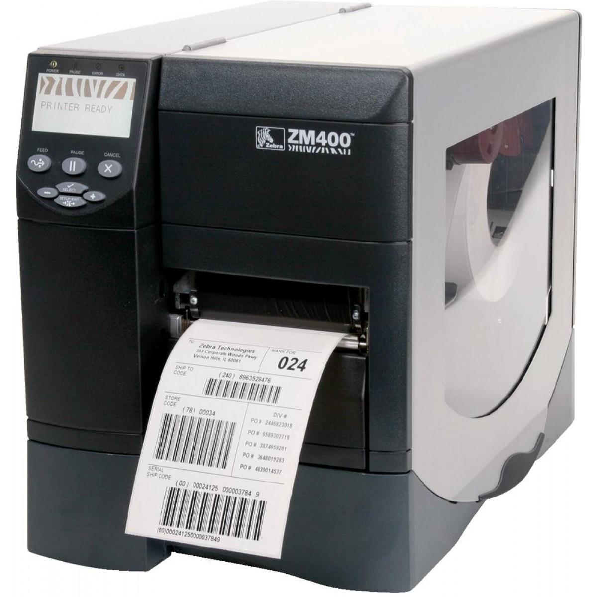 Impressora Térmica de Etiquetas Zebra ZM 400 (203 Dpi)