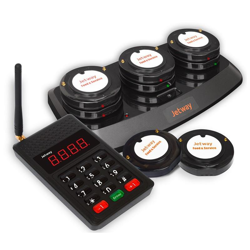 Kit Gerenciador de Filas Jetway - 15 Pagers PE-500 + 01 Teclado Chamador PE-100