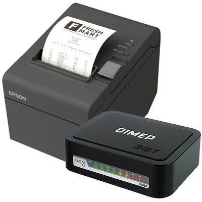 Kit SAT Dimep D-SAT 2.0 + Impressora de Cupom Epson TM-T20X (USB/Serial)