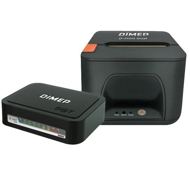 Kit SAT Fiscal Dimep D-SAT 2.0 + Impressora de Cupom Dimep D-Print