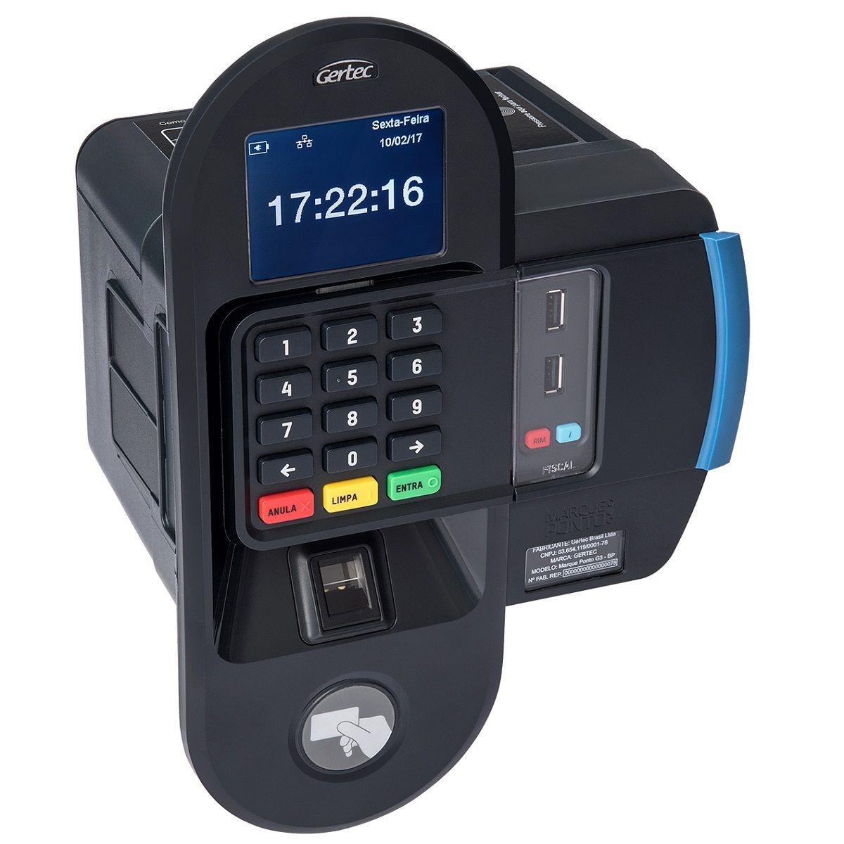 Relógio Eletrônico de Ponto Gertec Marque Ponto G3 (Biométrico)