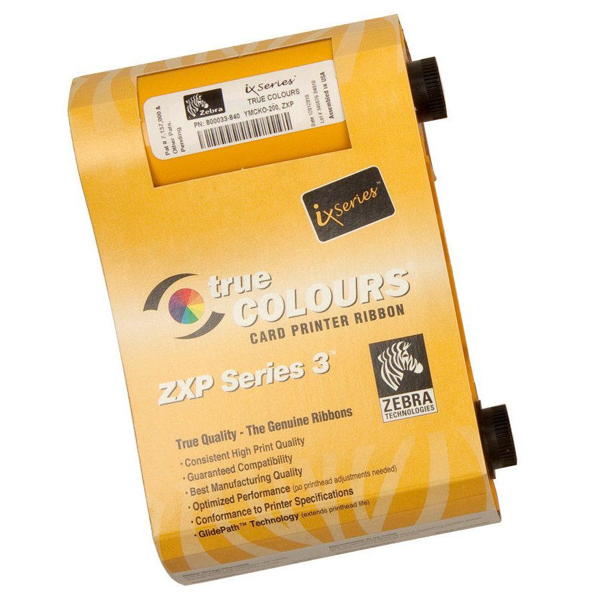 Ribbon Colorido para Cartões - Zebra ZXP3 - 200 Imagens