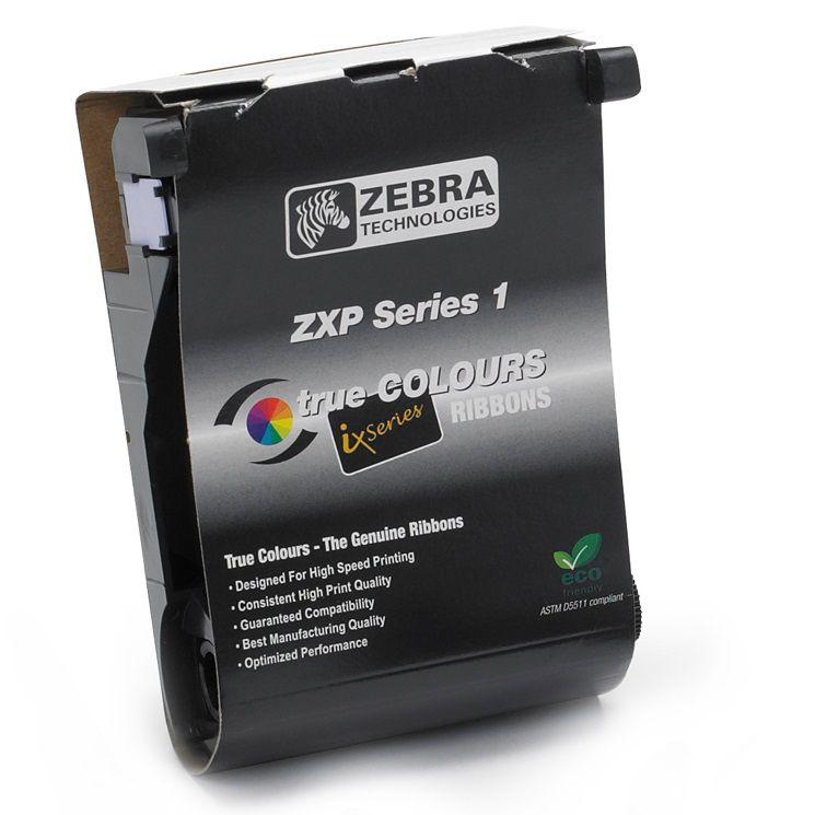 Ribbon Monocromático Preto Para Cartões - Zebra ZXP1   - 1000 Impressões