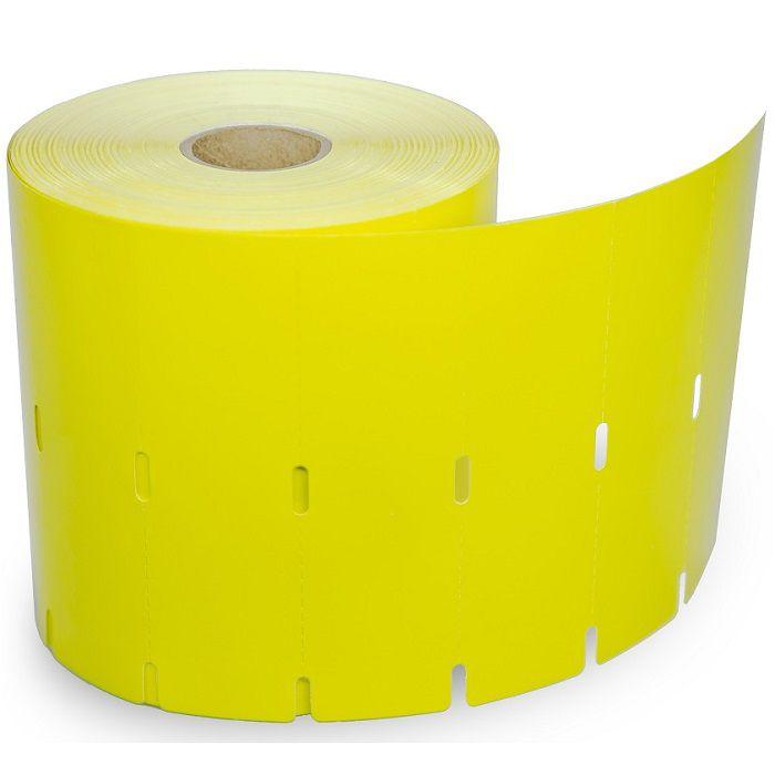 Rolo de Etiquetas Tag Cartão Para Gôndolas de Supermercado - Amarela - 100mm x 30mm - 1 Coluna