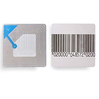 Rolo de Etiquetas Adesivas Antifurto 40mm x 40mm RF (Rolo Com 1.000 Etiquetas)