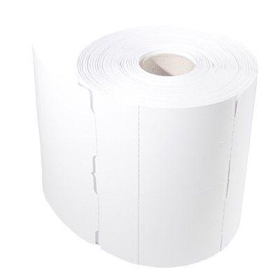 Rolo de Etiquetas Tag Cartão Para Roupas 50mm x 75mm - 2 Colunas - Serrilha