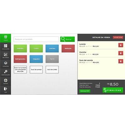 Software Para Pequeno Varejo SatFlex - Emissão do Cupom Fiscal Eletrônico + SAT Fiscal Control ID + PC Touch + Impressora Sweda SI-150