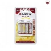 Carregador de Pilhas USB Mox Mo-cb736 - Com 4 Pilhas