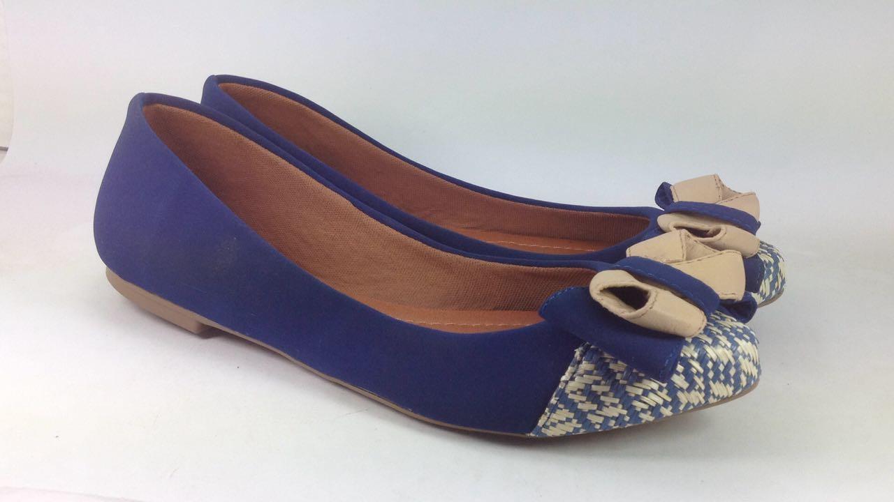 Sapatilha Feminina Awary  Azul e Branco - AW1021