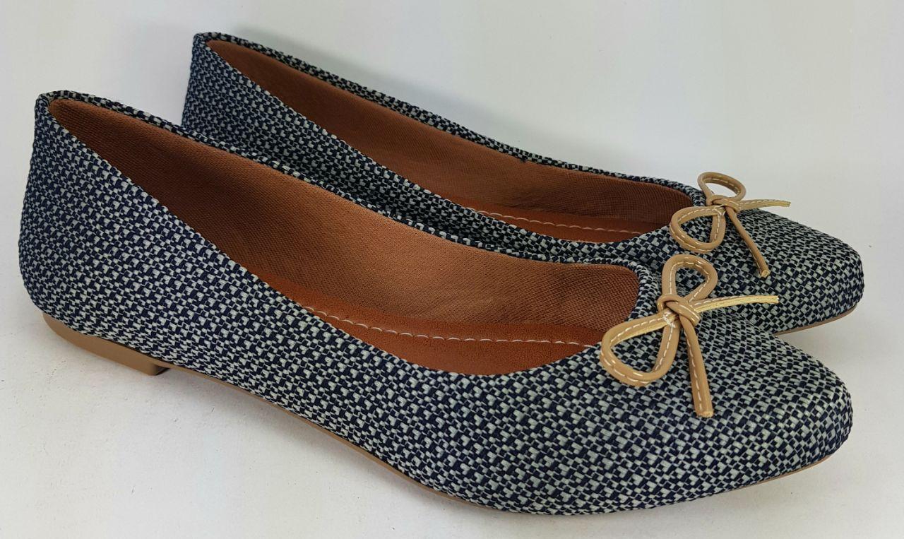Sapatilha Feminina Awary  Azul e Cinza - AW1515