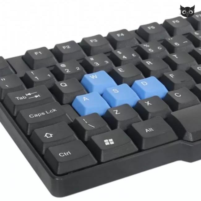 Teclado para PC e Notebook, Gamer, conexão USB 2.0