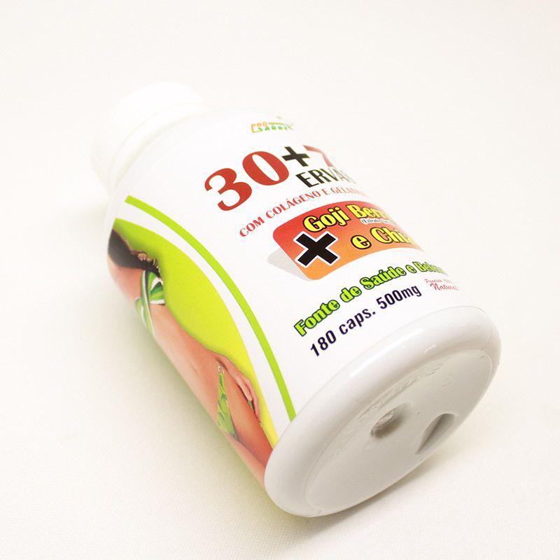 30+7 Ervas - Goji Berry e Chia - 180 Cáps. - 500mg