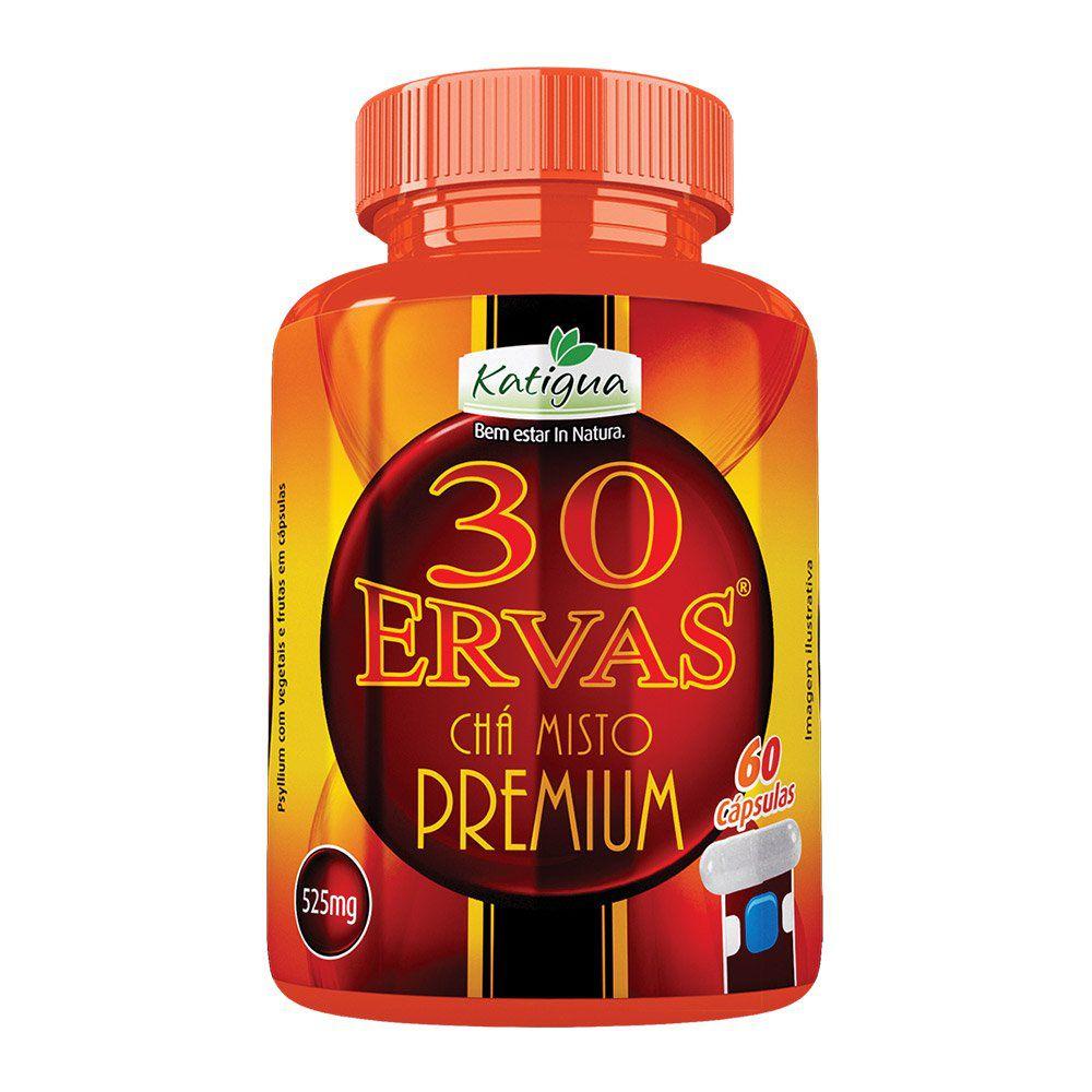 30 Ervas Chá Misto Premium - 60 Cápsulas - Katiguá