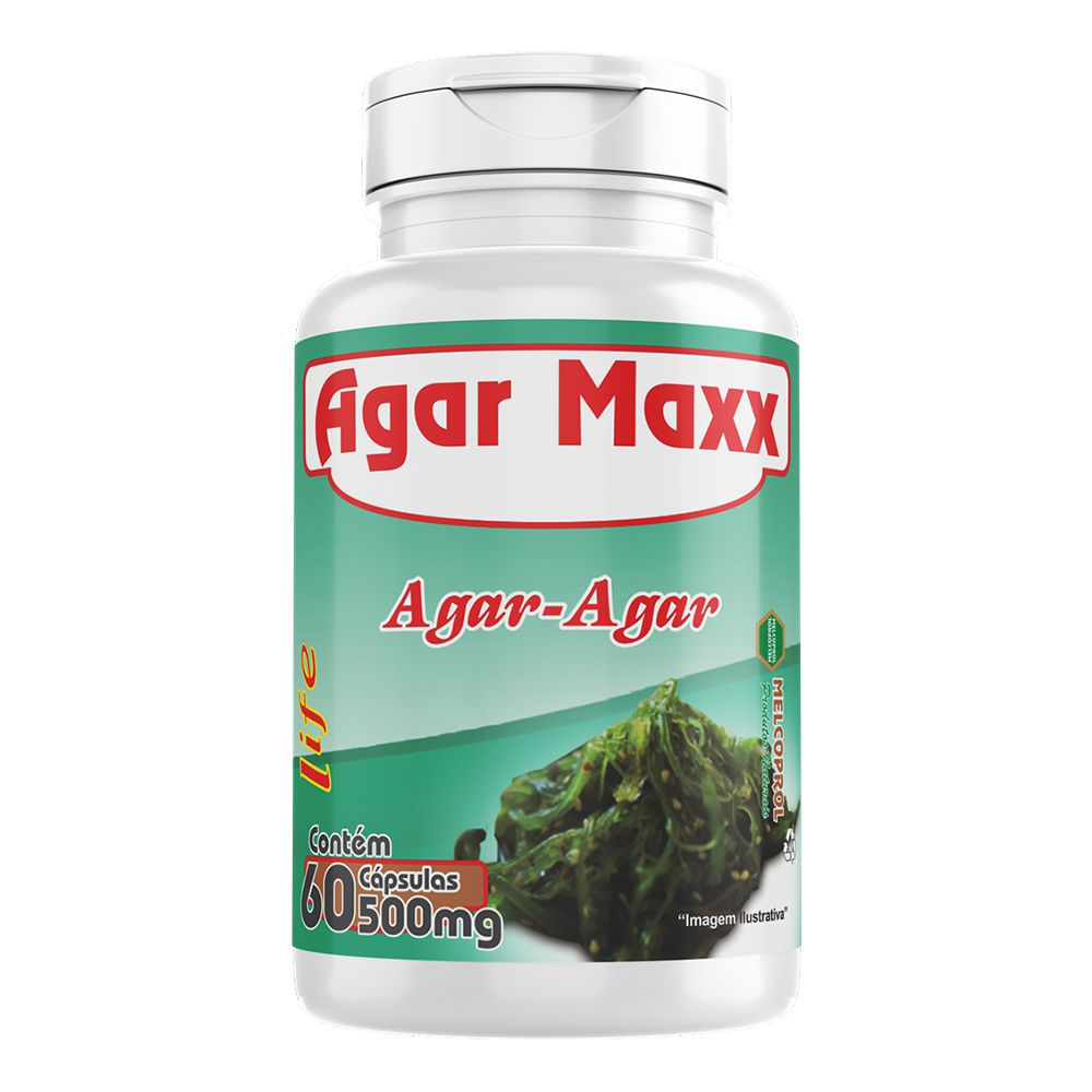 Agar Maxx - Aga-Agar - 60 cáps - 500mg