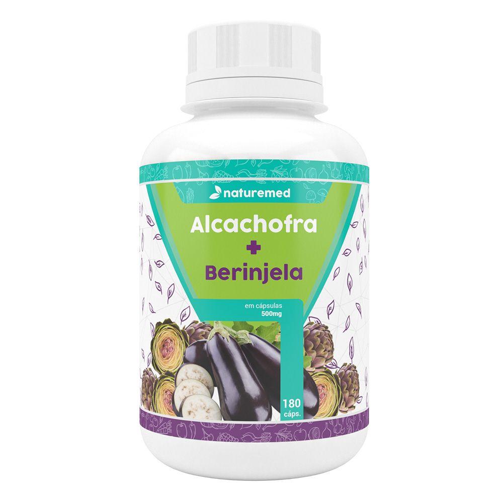 Alcachofra com Berinjela - 180 Cápsulas - Naturemed