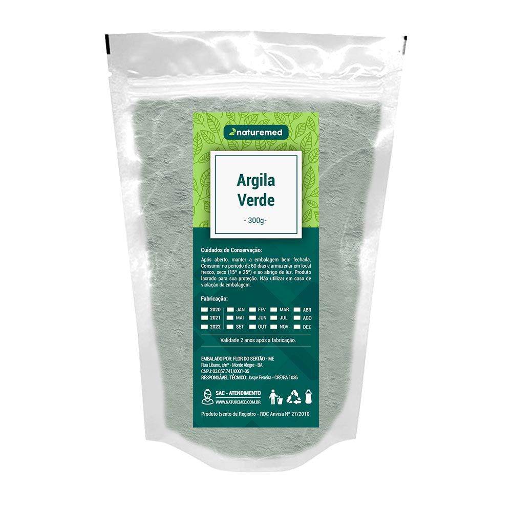 Argila Verde - 300g - Naturemed