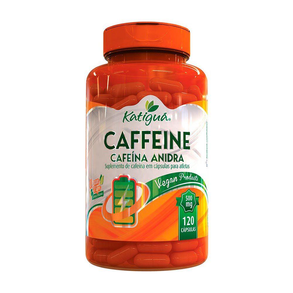 Caffeine Cafeína Anidra - 120 Cápsulas - Katiguá