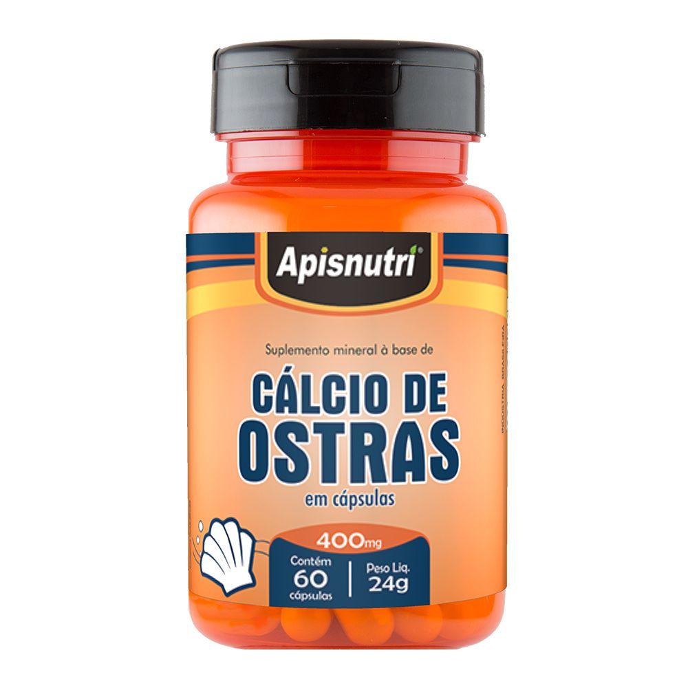 Cálcio de Ostras - 60 Cáps. - 400mg