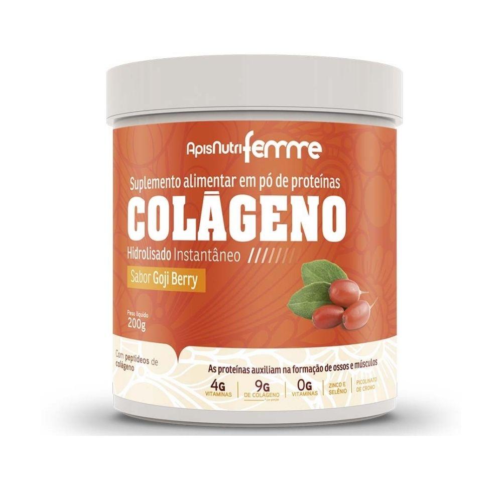 Colágeno Hidrolisado - Sabor Goji Berry - 200g - Apisnutri
