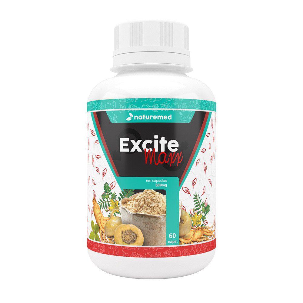 Maca Peruana e Ginseng - Excite Maxx - 60 Cápsulas - Naturemed