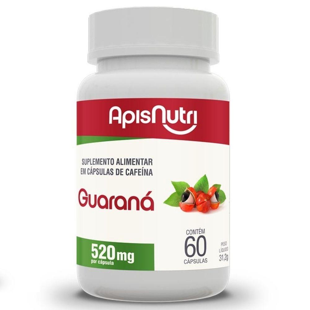 Guaraná - 60 Cápsulas - Apisnutri