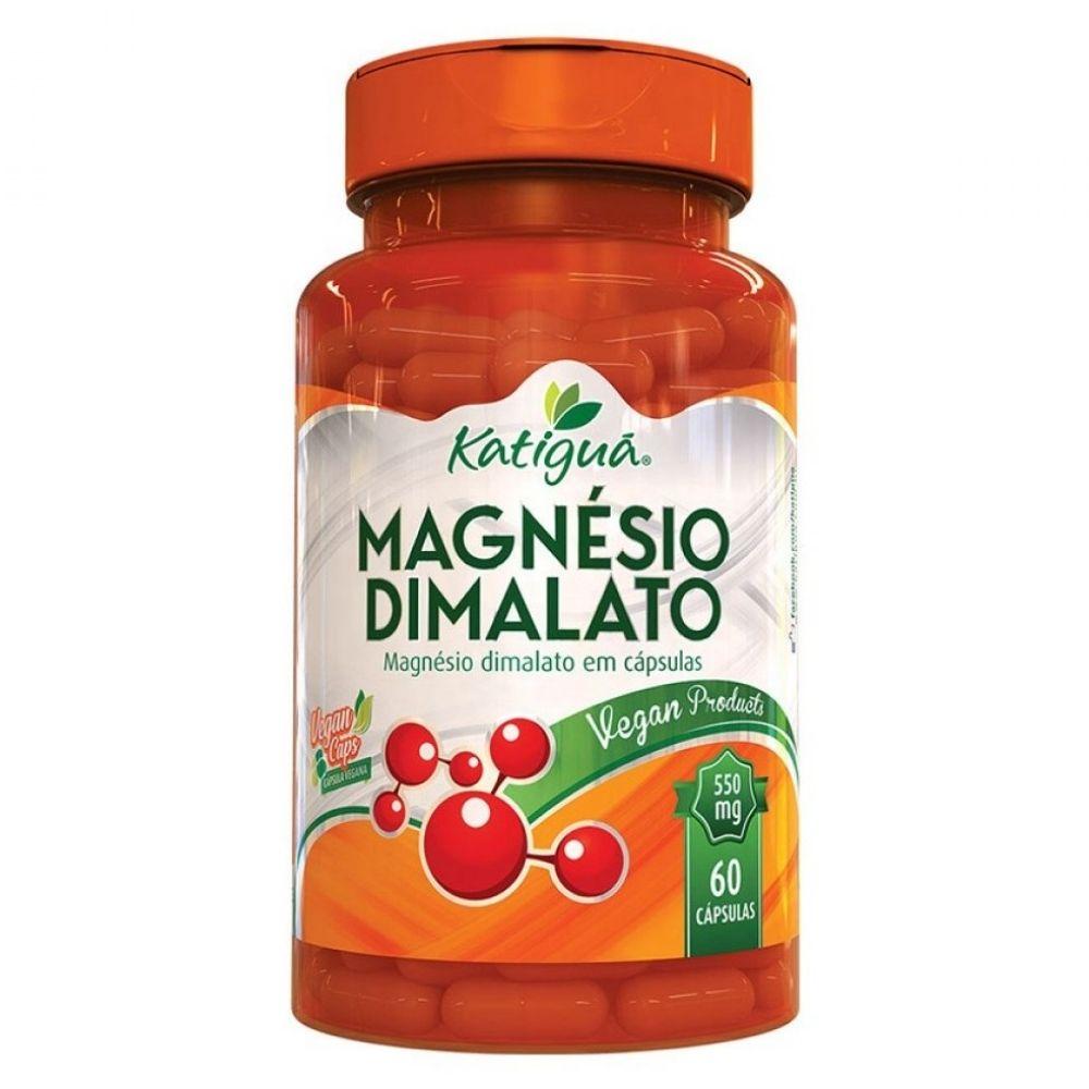 Magnésio Dimalato - 60 Cápsulas. - Katiguá
