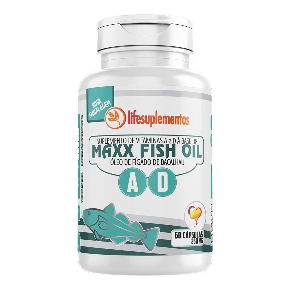 Maxx Fish Oil - Óleo de Figado de Bacalhau - 60 Cáps. - 250mg