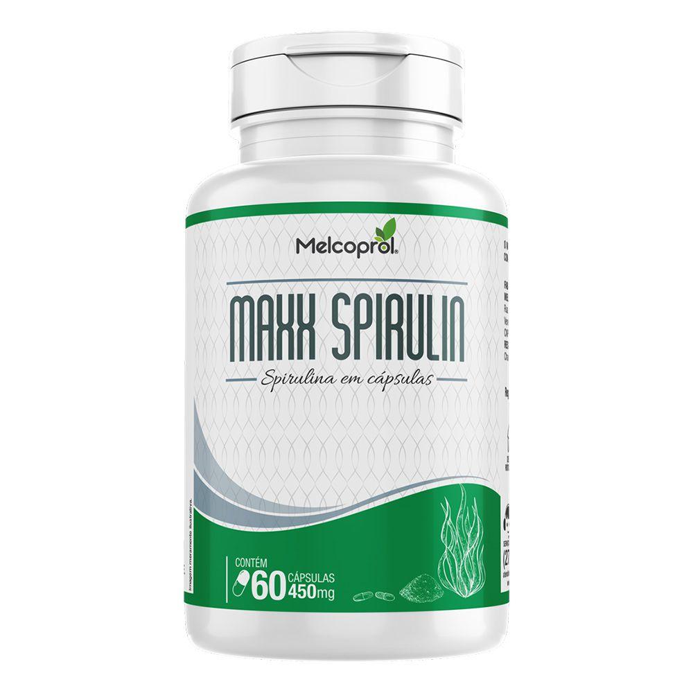 Maxx Spirulin - Spirulina - 60 Cáps. - 450mg