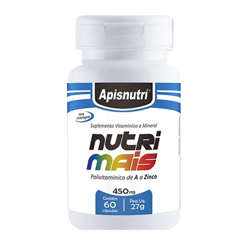 Nutri Mais - Polivitaminico de A a Zinco - 60 Cáps. - 450mg