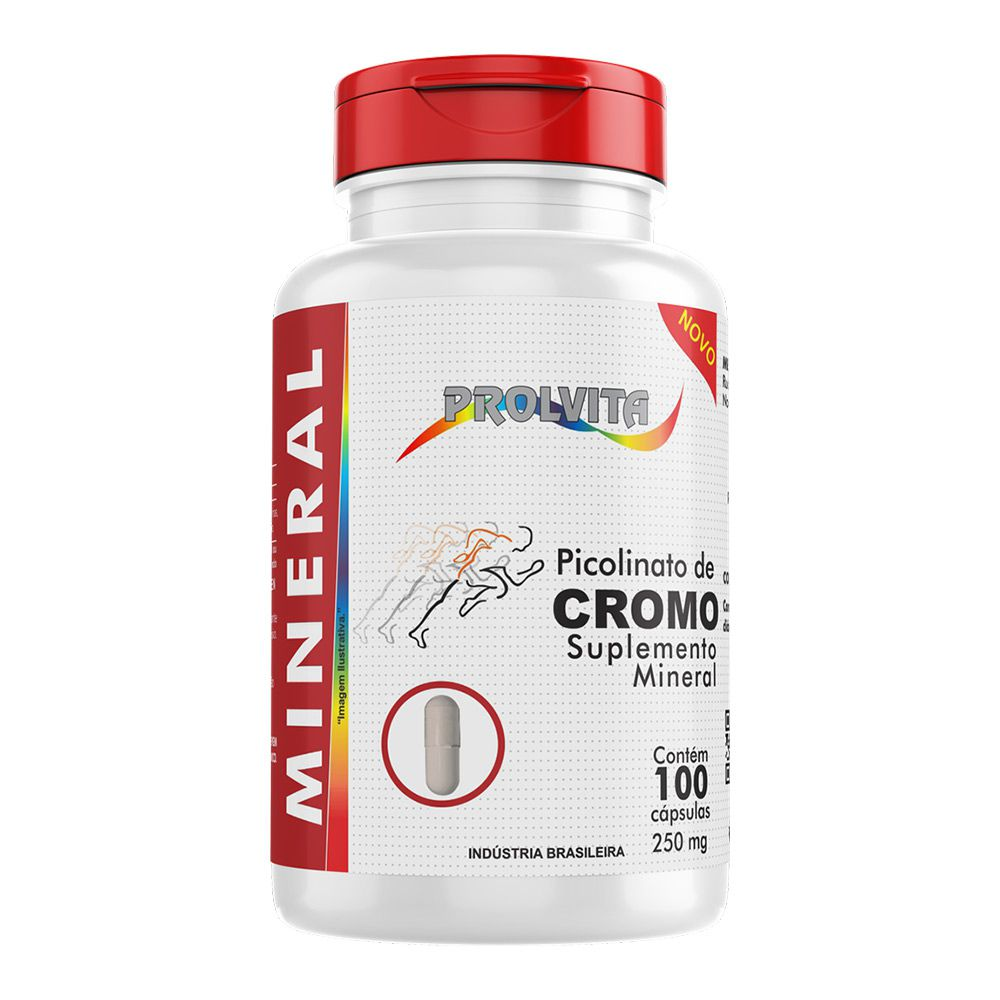 Picolinato de Cromo - 100 Cáps. - 250mg