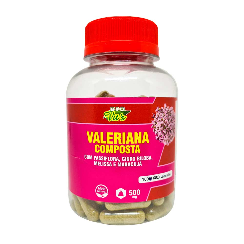 Valeriana Composta - 100 Cápsulas - Bio Vits