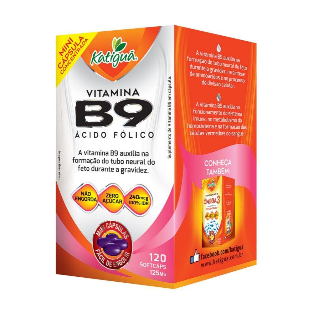 Vitamina B9 - 120 cápsulas - Katiguá
