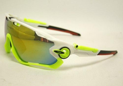Óculos Oakley Jawbreaker Polarizado 5 Lentes Verde branco - AOGAO ... 2b2f4a8e46