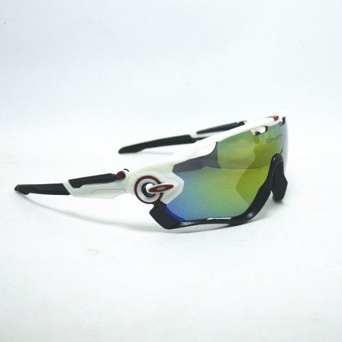 Óculos Oakley Jawbreaker Polarizado 5 Lentes Preto/branco