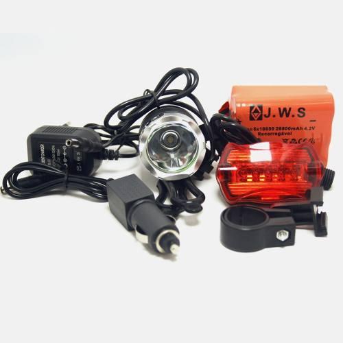 Farol De Bike Jyx Jy-1168b Bateria De 6 Células + Pisca