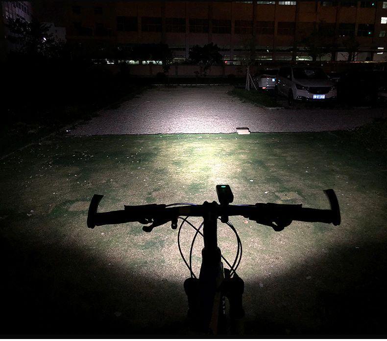 Farol de Bike bateria Embutida  1000 lúmens 5200 Mah Power bank