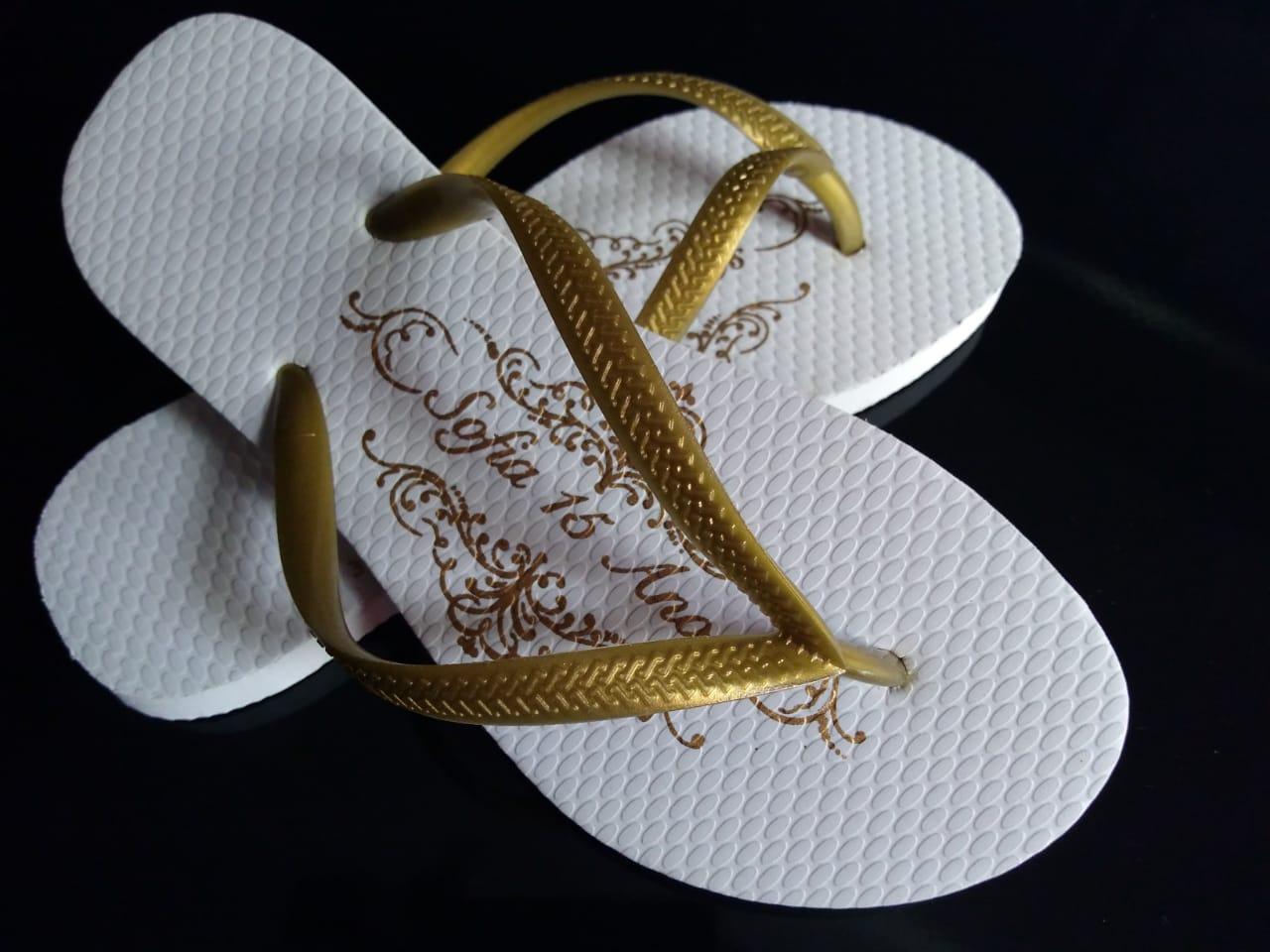 Chinelo feminino slim personalizado + vale conforto - 100 pares (FRETE GRÁTIS PARA MG/RJ/SP)  - Persona Guardanapos & Cia