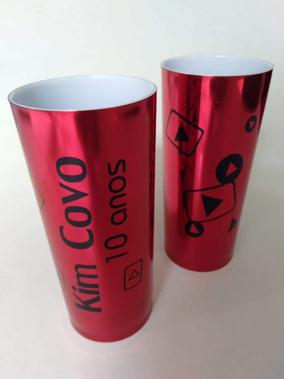 COPO metalizado personalizado 360 ml - 50 UNIDADES  - Persona Guardanapos & Cia