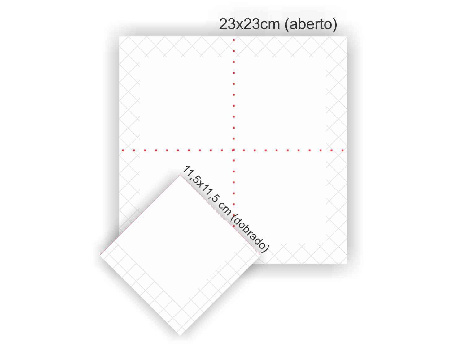 Guardanapo de papel mod. tradicional 23x23 cm Personalizado - 100 unidades  - Persona Guardanapos & Cia