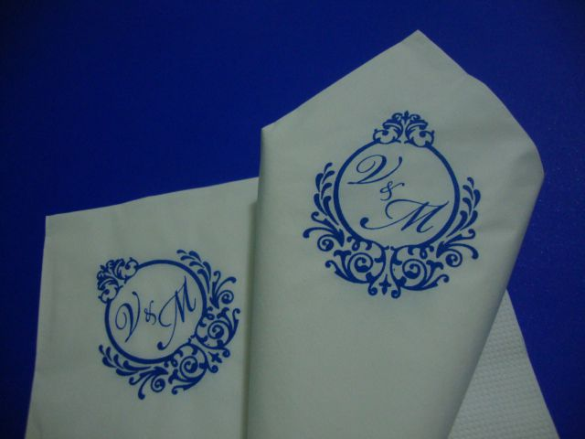 Guardanapo de papel mod. tradicional 30x30 cm Personalizado - 500 unidades  - Persona Guardanapos & Cia